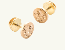 Ohrstecker Lilie gold Ohrring